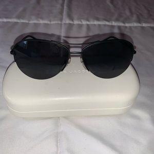 Marc Jacobs Accessories - Marc Jacobs Black Aviator Polarized Sunglasses